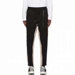 Mastermind World Black and Beige Side Line Lounge Pants MW20S05-PA043-605
