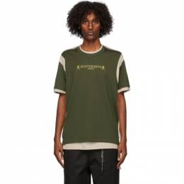 Mastermind World Green and Beige Double Layered T-Shirt MW20S05-TS039-018