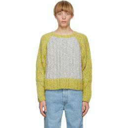 Eckhaus Latta Grey Knit Contrast Cable Sweater 029-EL-AW20-K