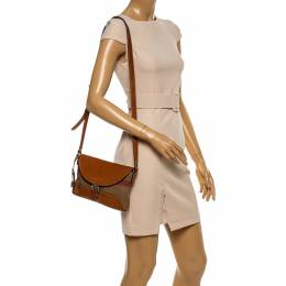 Burberry Beige/Tan House Check Canvas and Leather Gowan Crossbody Bag 346774