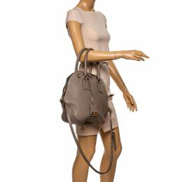 Burberry Taupe Grain Leather Orchard Bowler Bag 341016