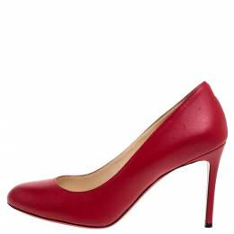 Christian Louboutin Red Leather Simple Pumps Size 37 347136