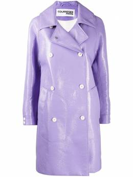 Courreges straight double-breasted coat 320CMA013VY0001