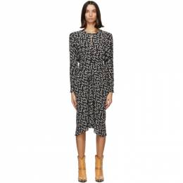 Isabel Marant Black and White Ibelky Dress 20HRO1845-20H042I