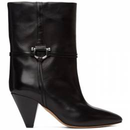 Isabel Marant Black Leather Lilet Ankle Boots 20HBO0595-20H001S