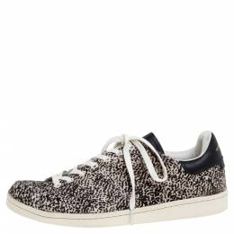 Isabel Marant Beige Leopard Print Calfhair and Leather Low Top Sneakers Size 41 347560