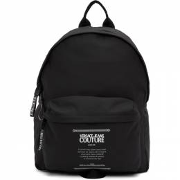 Versace Jeans Couture Black Warranty Label Backpack EE1YZBB23E71740