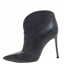 Gianvito Rossi Grey Leather Mable Boots Size 37 348848