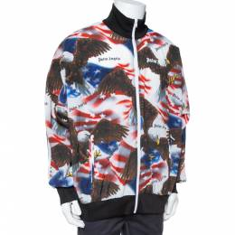 Palm Angels Multicolor Eagle and Flag Print Track Jacket XL 347422