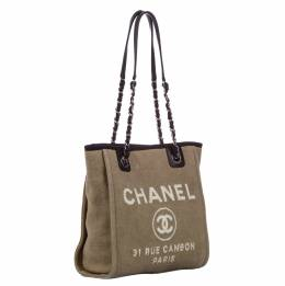 Chanel Large Brown Deauville Tote Bag 338830
