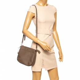 Dkny Brown Leather Shoulder Bag 348413