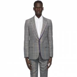 Givenchy Black and Beige Wool Prince of Wales Blazer BM308Y1381