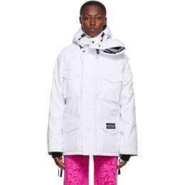 Y / Project SSENSE Exclusive White Canada Goose Edition Down Constable Parka YPCGPARKA1