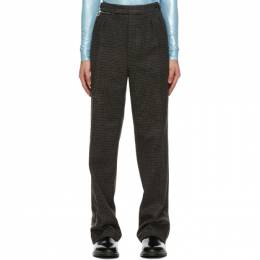 Raf Simons Black and Brown Ankle Zip Trousers 202-343A