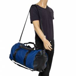 Michael Kors Sapphire Blue Nylon and Leather Kent Sport Convertible Backpack to Duffle Bag 350689