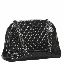 Chanel Black Patent Leather Large Just Mademoiselle Large Bag 348133