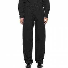 Lemaire Black Military Trousers M 203 PA160 LF509