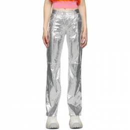 MSGM Silver Python Trousers 2942MDP110 207815