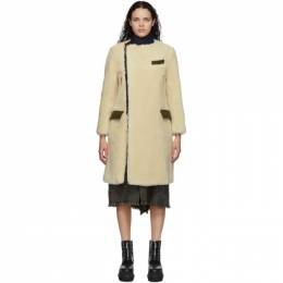 Sacai Beige Wool Suiting Coat 20-05357