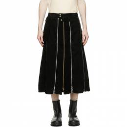 Black Zipper Kilt Skirt YOU02P001 Youths in Balaclava
