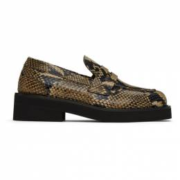 MARNI Taupe Snake Loafers MOMS002304 LV848