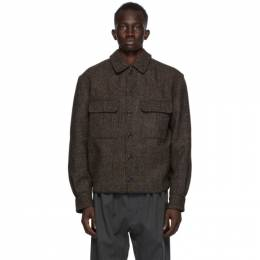 Lemaire Brown Tweed Overshirt Jacket M 203 OW163 LF488