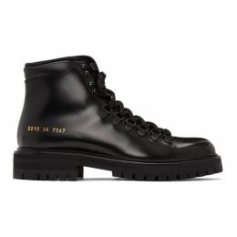 Common Projects Black Hiking Boots 6010