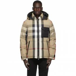Burberry Reversible Beige and Black Down Rutland Jacket 8036458