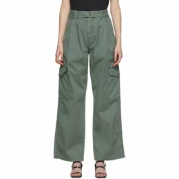 Citizens of Humanity Khaki Gabrielle Wide-Leg Trousers 1900-1180