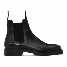 Common Projects Black Winter Chelsea Boots 2287