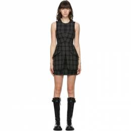 Alexander McQueen Black and White Wool Check Dress 640520QJAB5