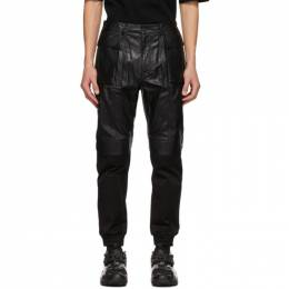 Juun.J Black Faux-Leather Cargo Pants JC0X21P925