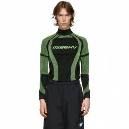 Misbhv Black and Green Active Turtleneck 120M501