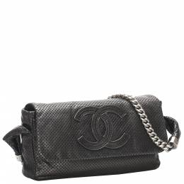 Chanel Black Perforated Leather CC Bag 348162