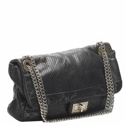 Chanel Black Leather Reissue Drill Bag 348163