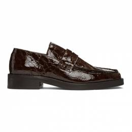 Martine Rose Brown Croc Roxy Loafers FMROWRXY1051A8