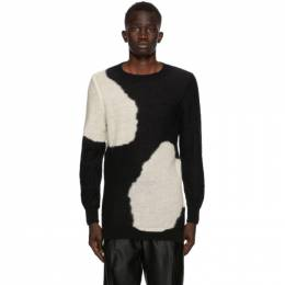 Ann Demeulemeester SSENSE Exclusive Black and White God Of Wild Spots Sweater 2002-4006-256-099