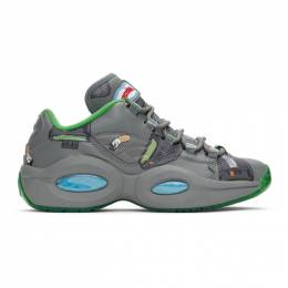 Grey Reebok Edition Beepers and Butts Question Low Sneakers FZ4342 Billionaire Boys Club