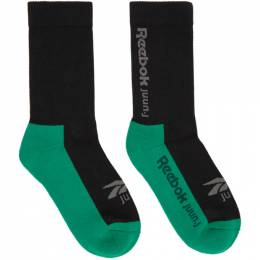 Juun.J Black Reebok Edition Jersey Socks GP7855