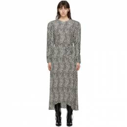 Isabel Marant Black and Off-White Telenda Dress 20HRO1844-20H041I