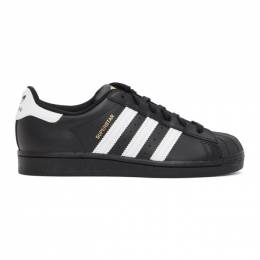 Adidas Originals Black and White Superstar Sneakers EG4959