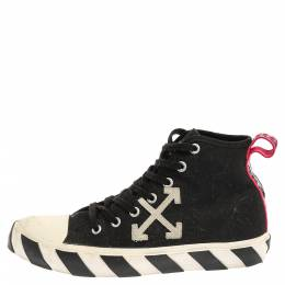 Off White Black/White Canvas High-top Arrow Sneakers Size 43 Off-White 355001