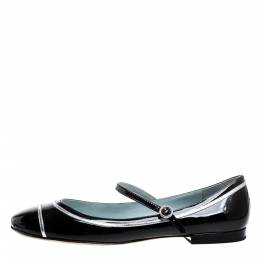 Marc Jacobs Black Patent Leather Mary Jane Ballet Flats Size 40 355668