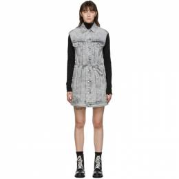 Rag & Bone Grey Trucker Dress WDD20F2753W5AL