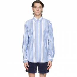Polo Ralph Lauren Blue and White Striped Classic Fit Shirt 710798093003