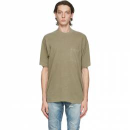 John Elliott Green Faded Pocket T-Shirt A236A17600A