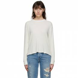 Re/done Off-White Thermal Long Sleeve T-Shirt 041-2WTHLS