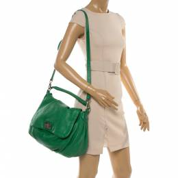 Marc by Marc Jacobs Green Leather Classic Q Lil Ukita Top Handle Bag 355923