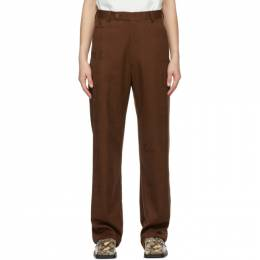 Martine Rose Brown Slate Trousers MRAW20-326