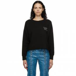 Simon Miller Black Cropped Logo Sweatshirt W3007-4054